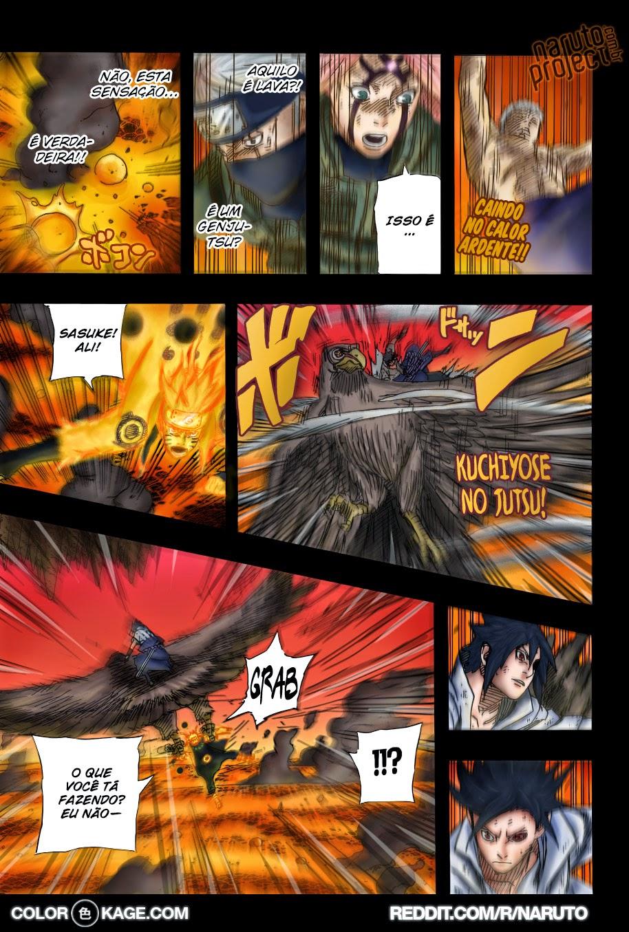 Naruto 680 Mangá Colorido em português