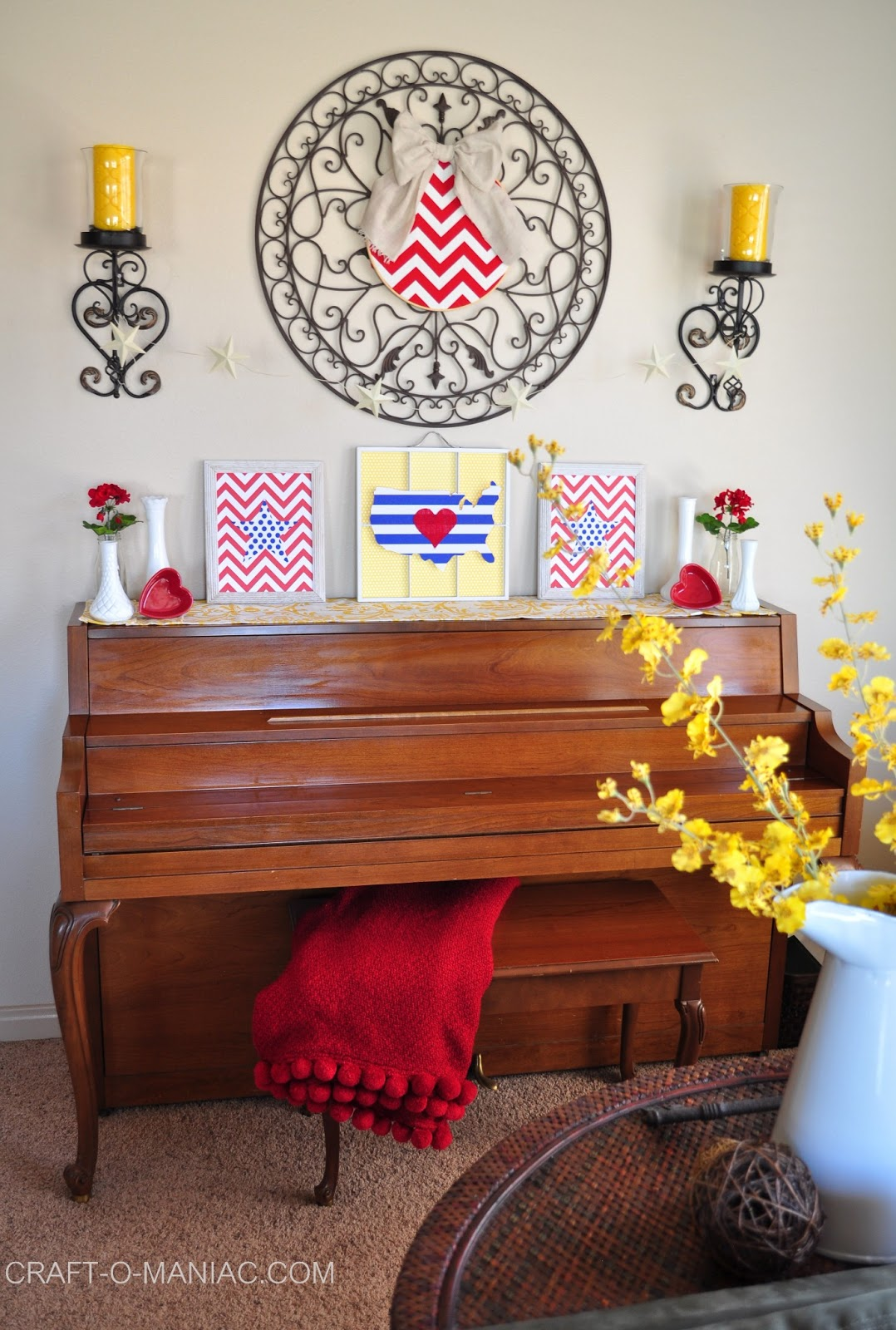 Patriotic Bedroom Home Decor Patriotic Piano Craft O Maniac