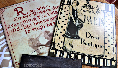 metal signs up-cycled into chalk boards www.homeroad.net