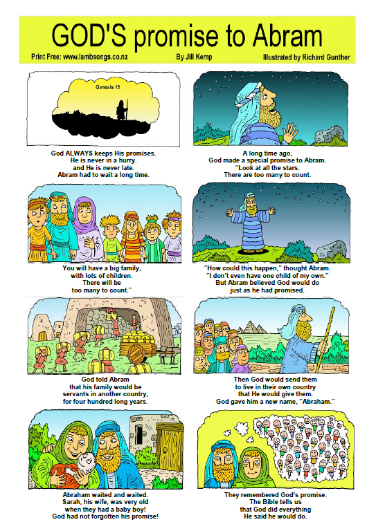 free one page printable bible stories