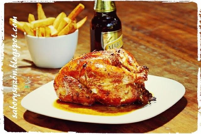 pollo dorado a la brasa