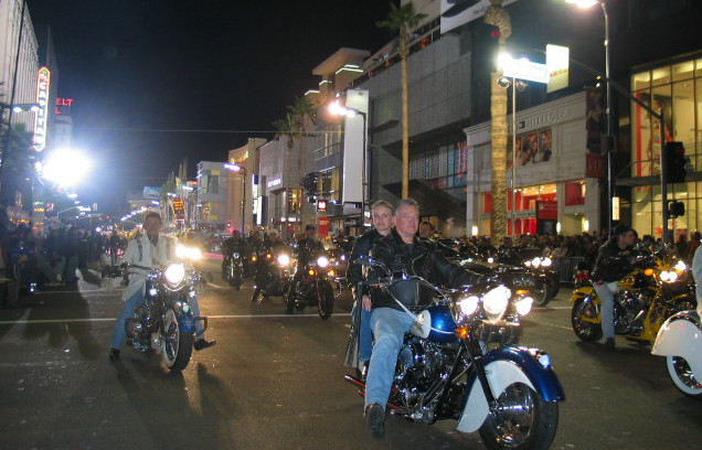 Riding in the Hollywood Christmas Parade back in 2003