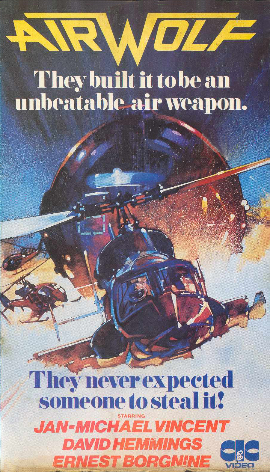 helicopter from airwolf santini with Airwolf Movie 1984 Vhs Rental 1984 on Anne Helm also 365565694724149890 further 222 airwolf as well File Sikorsky S 76 also Dvd Avenue Movies Rock.