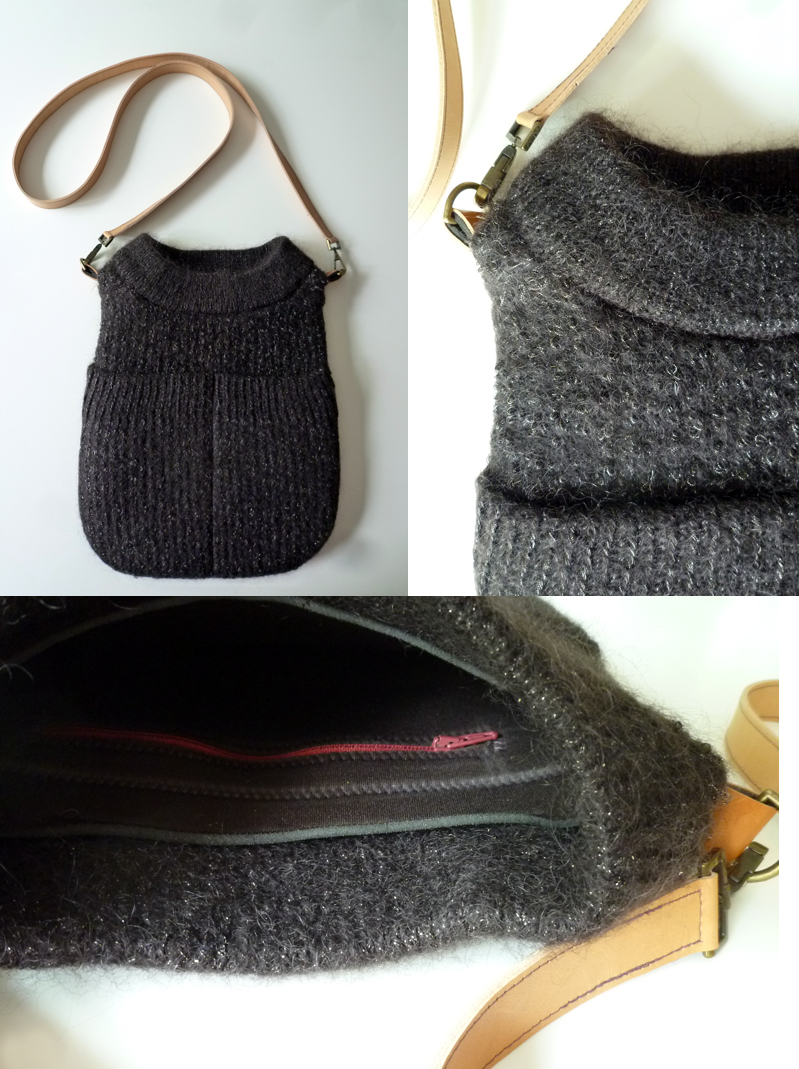 rot gelb upcycling tasche aus pulli. Black Bedroom Furniture Sets. Home Design Ideas