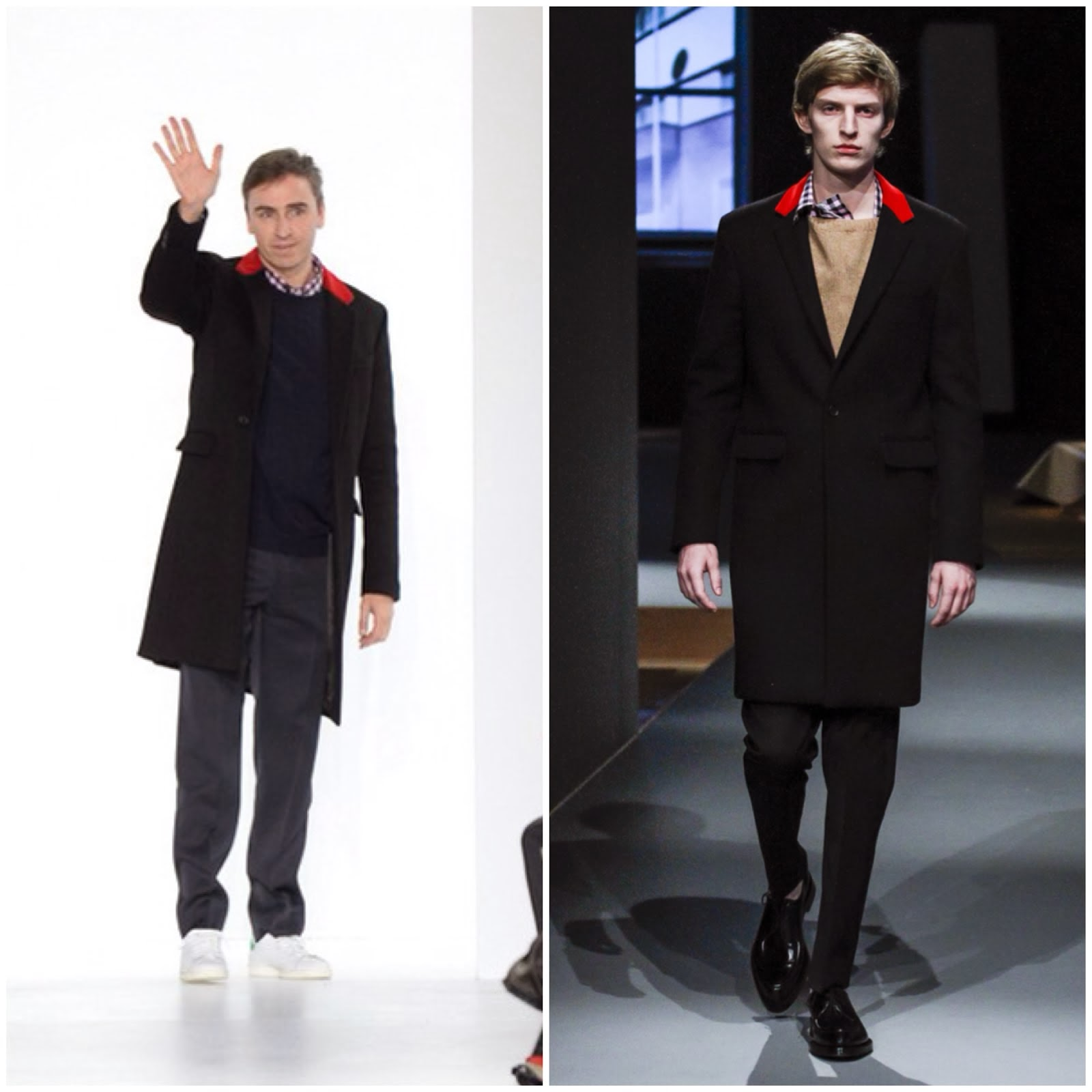 Raf Simons in Prada - Christian Dior Fall Winter 2014 Show