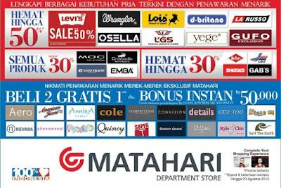 Katalog Promo Matahari Department Store Terbaru 2015