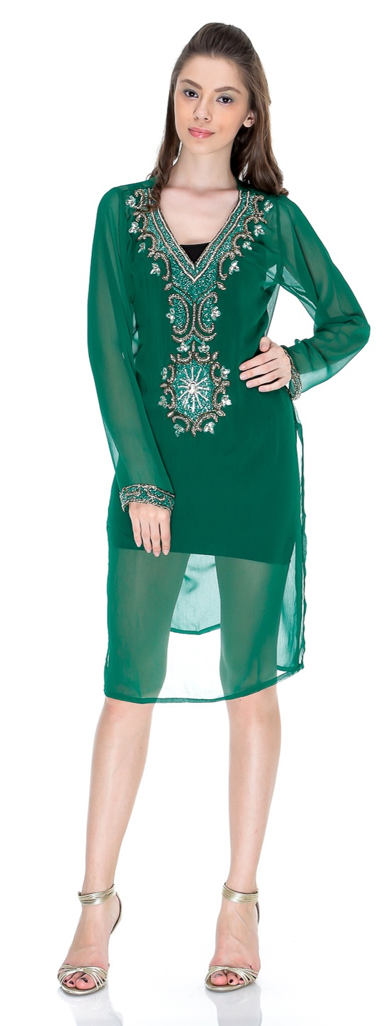 Pakistani embroidered kurti fancy fashion