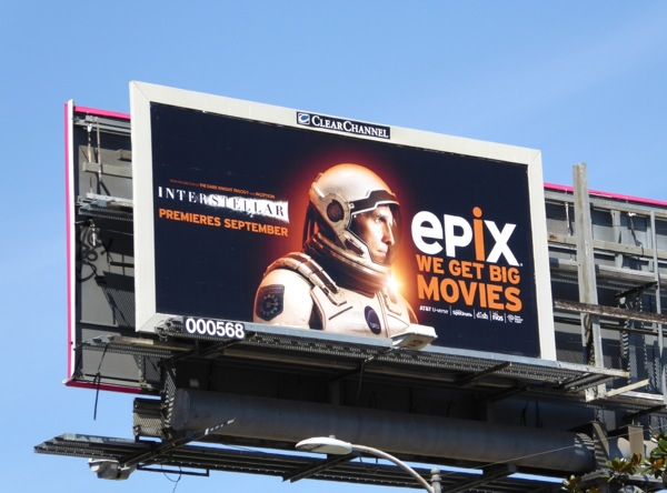 Interstellar Epix movie billboard