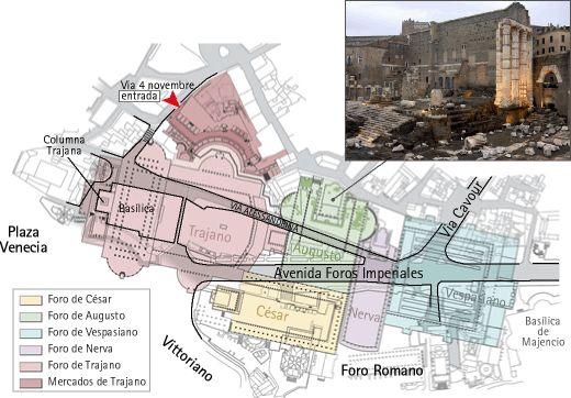 Los Foros Imperiales (II); el Templo de la Paz y el Foro Transitorio ...
