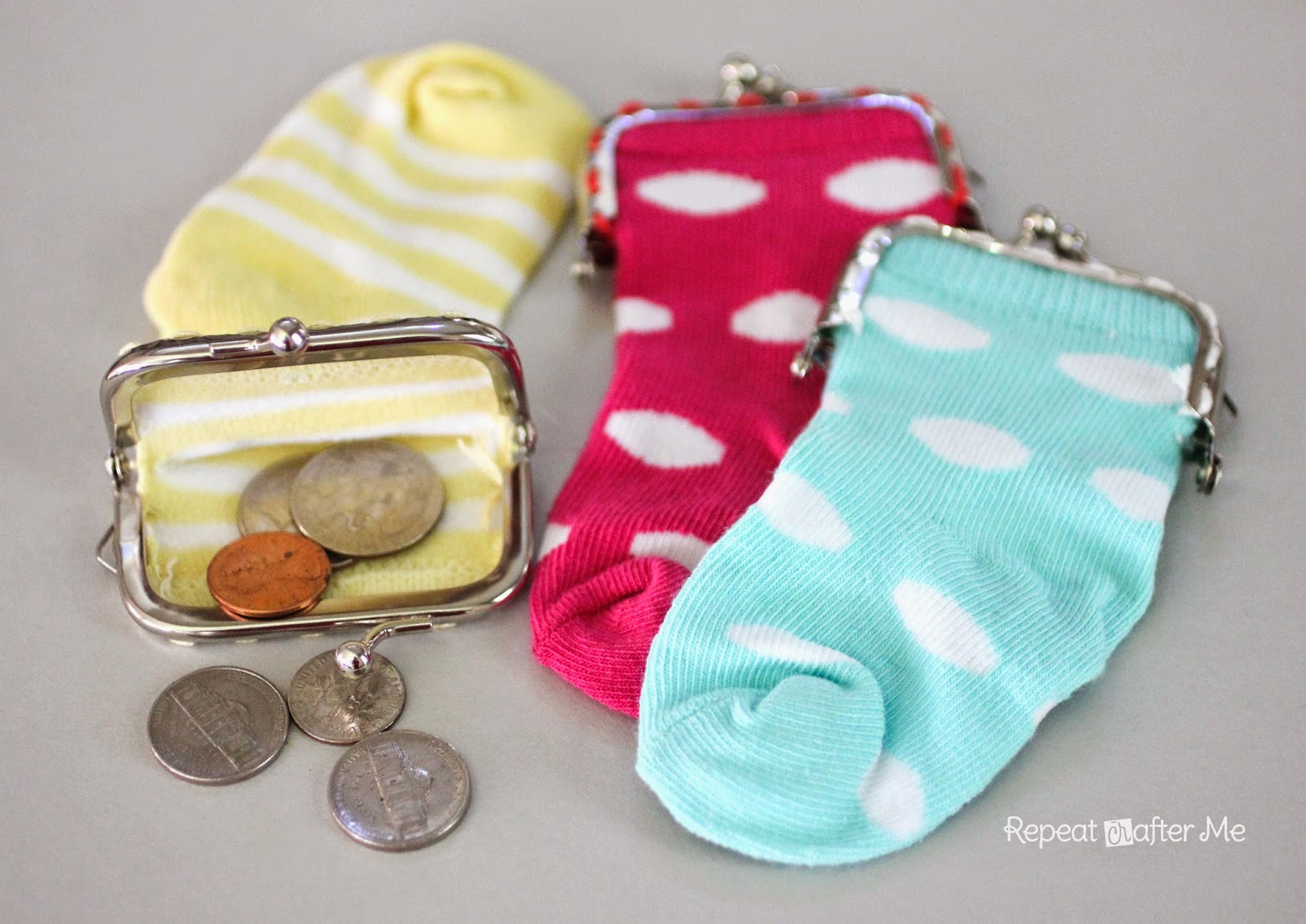 Baby Sock Coin Purse Tutorial