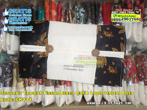Souvenir Tempat Tissue Blacu Batik Lapis Dalam Bus unik