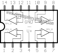 Pinout of LM324 IC