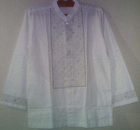 Jual Baju Koko Pria Putih al Luthfi Kotak