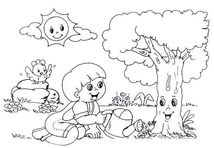 desenhos dia da  u00c1rvore para colorir