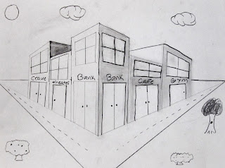 how to draw a section perspective