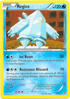 Regice Ancient Origins Pokemon Card