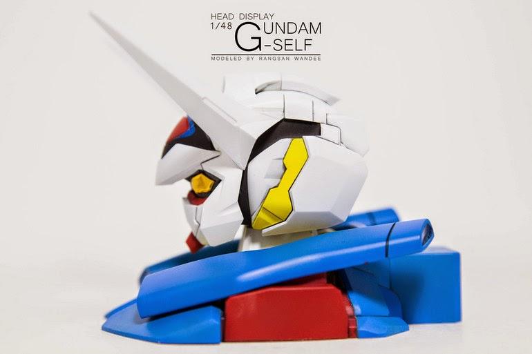bandai gundam century g-self head display