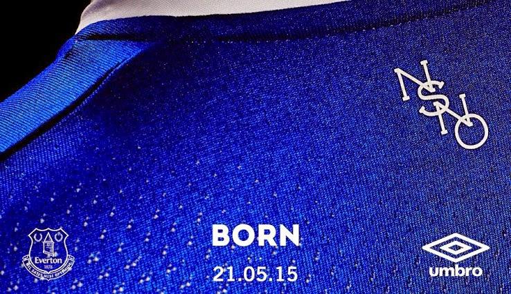 Detail bagian belakang jersey Everton home musim 2015/2016