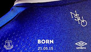 jual online Detail bagian belakang jersey Everton home musim 2015/2016