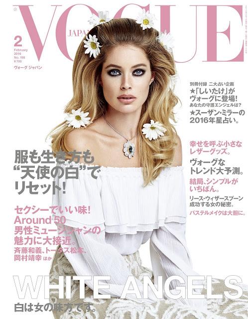Actress, Model, @ Doutzen Kroes - VOGUE Japan, January 2016