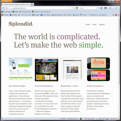 Screen shot of http://www.madebysplendid.com/.