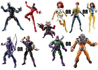 Marvel Legends wave 5 Rocket Raccoon Wrecking Crew Wrecker Avengers Black Panther Captain America Hawkeye Modern variant Spider-man Scarlet Spider Kane Jim Lee Jean Grey Phoenix Guardians of the Galaxy Punisher Knights X-men mutant