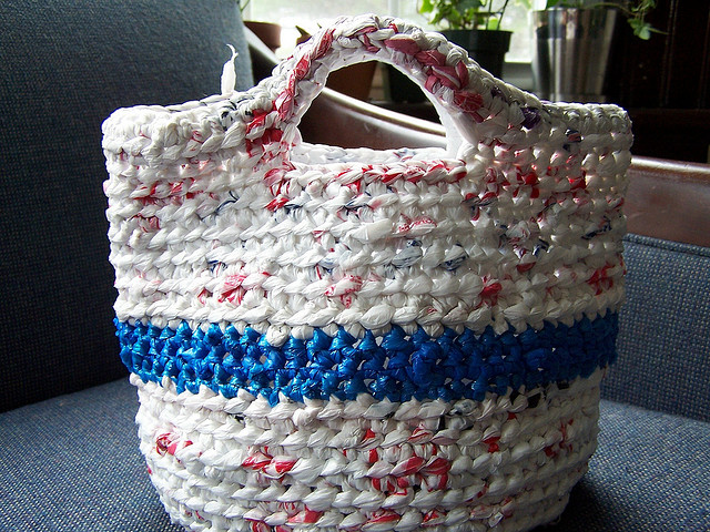 Free Crochet Patterns Plarn Bags : More Than Today: What Can I Do With All These Plastic Bags