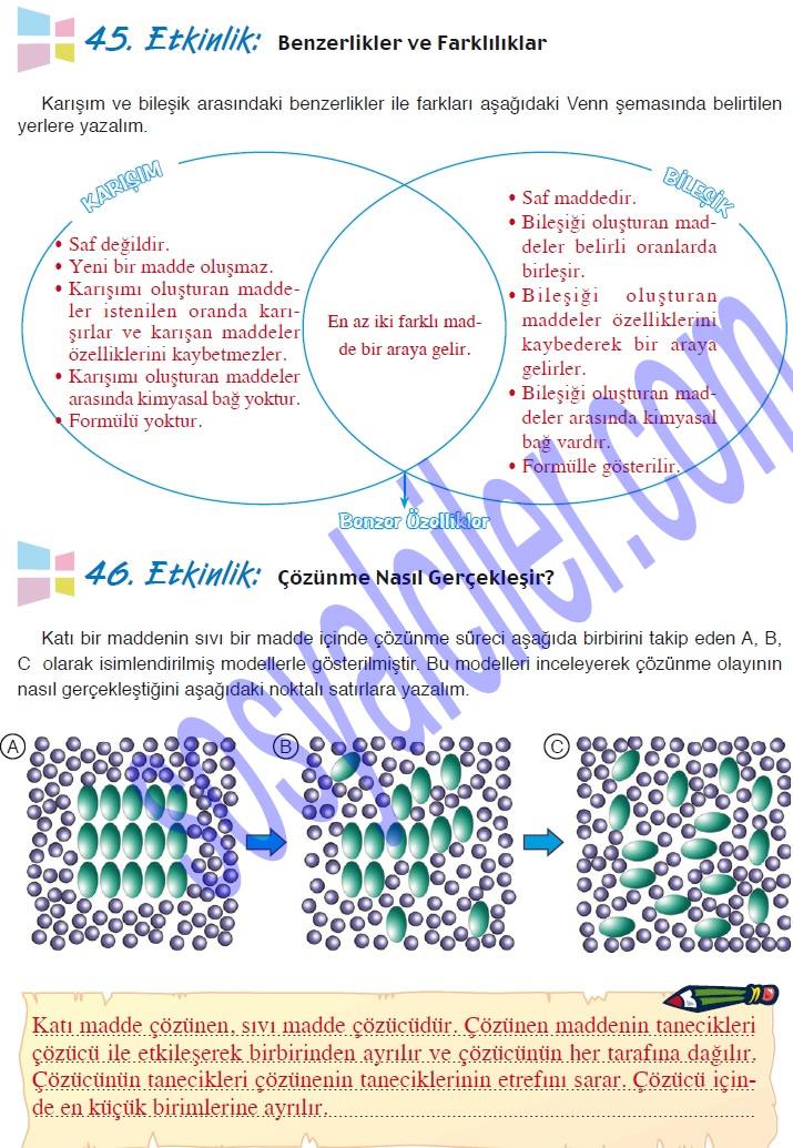 Sinif fen ve teknolojii calisma kitabi sayfa 104′ün cevaplari