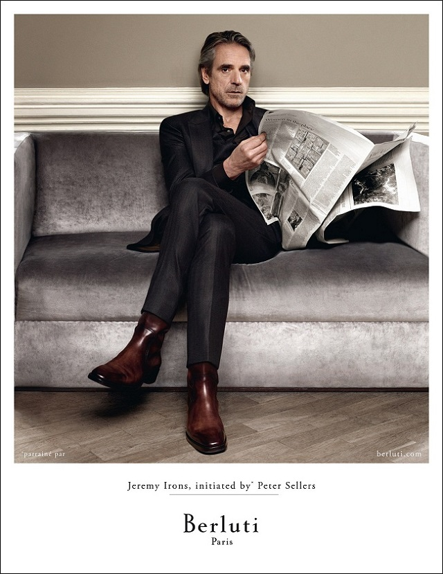 Jeremy Irons for Berluti