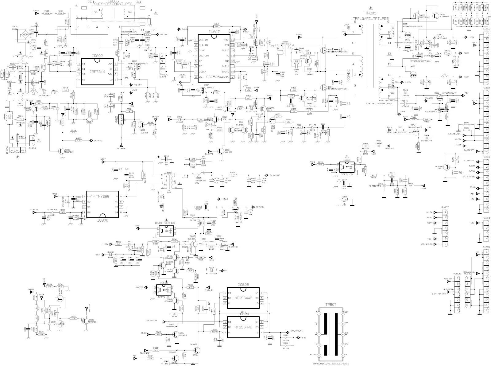 17pw15 8 Circuit Diagram Schematic Diagrams 17pw26 4 Vestel 17pw20 Power Supply Smps Schematics