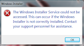 Cara Memperbaiki MSI Installer Windows 7