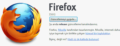 Firefox 16 Güncelleme