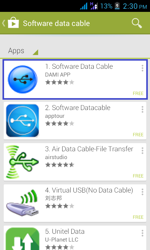 Search Software Data Cable