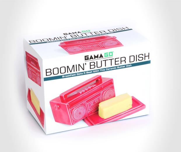 Boomin' Boombox Butter Dish