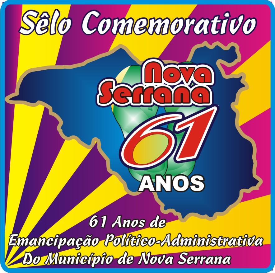 Sêlo Alusivo Aos 61 Anos de Emancipação do Município de Nova Serrana