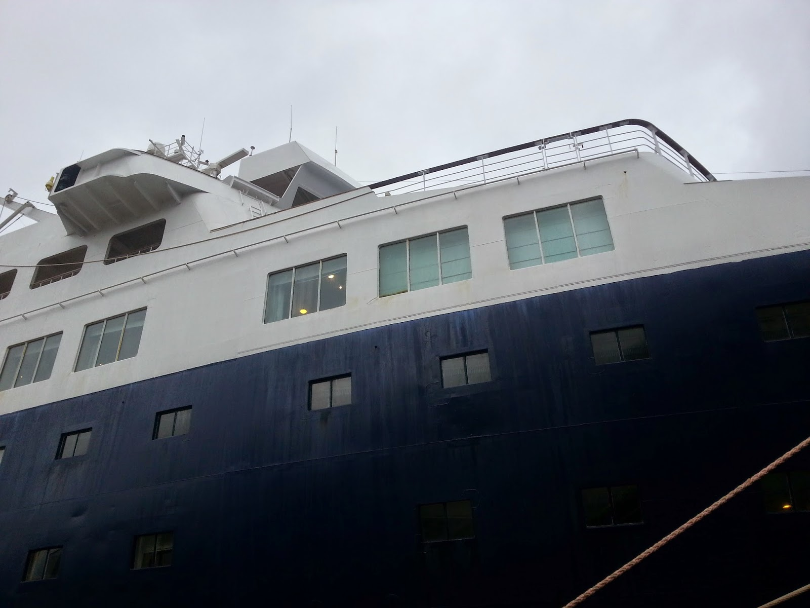 Cruise Ship Saga Pearl II in Bergen, Norway
