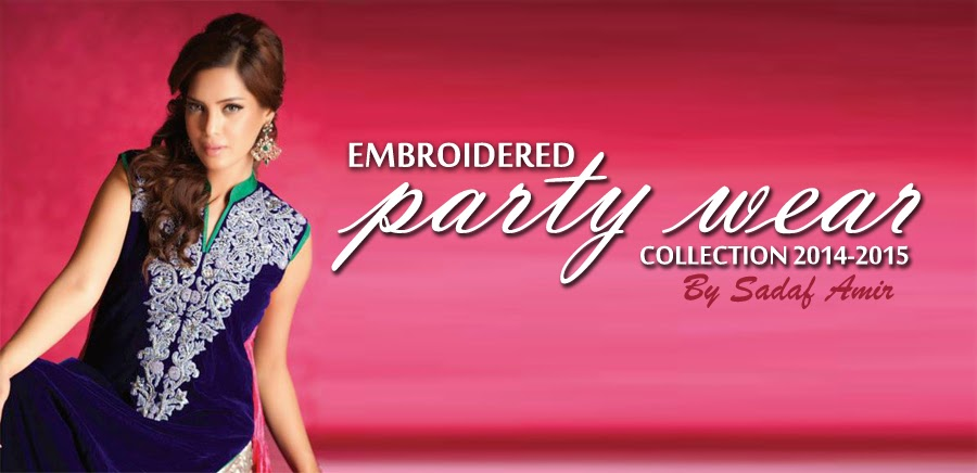 EmbroideredPartyWearDresses2014 wwwfashionhuntworldblogspotcom 001 - Embroidered Party Wear Collection 2014 By Sadaf Amir