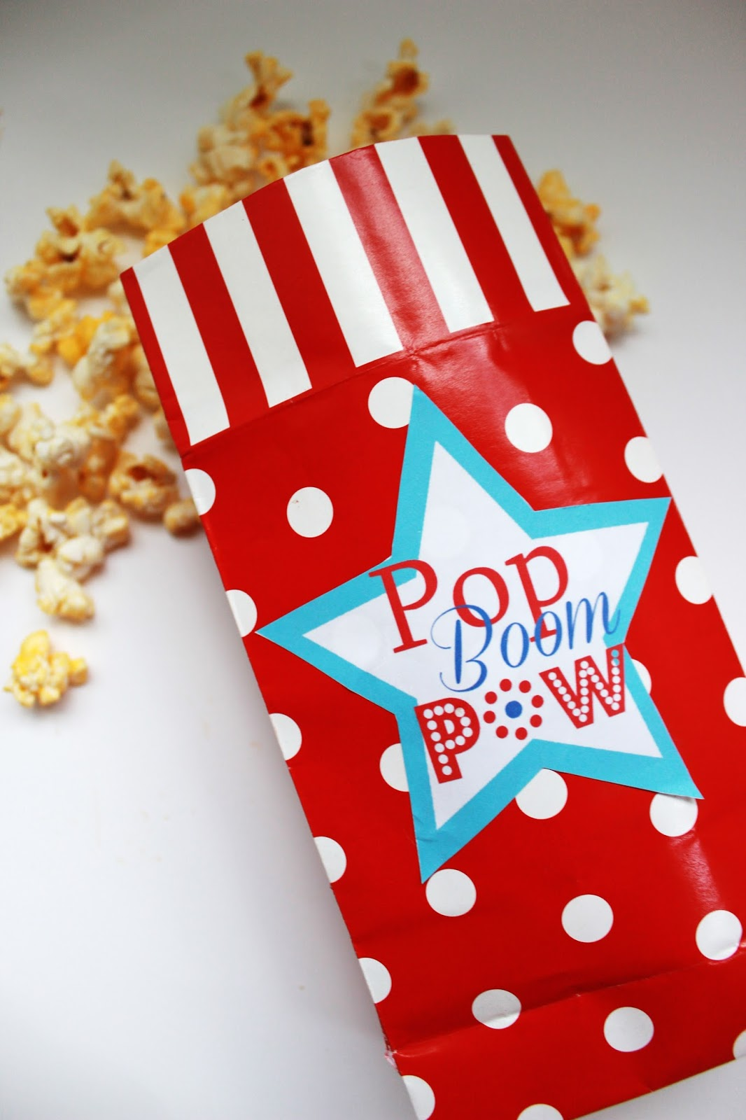 Delicate image throughout popcorn bag printable