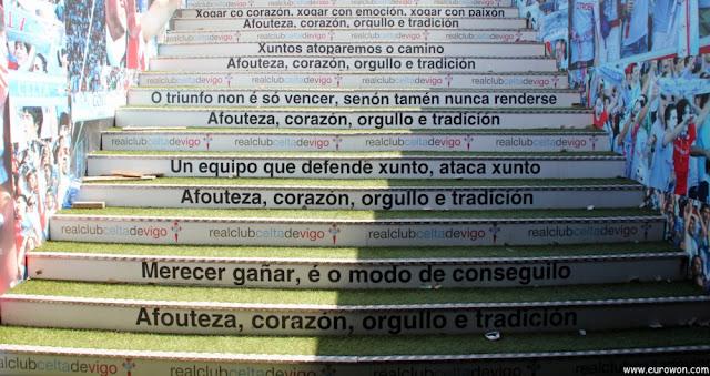 Escaleras de acceso al césped de Balaídos