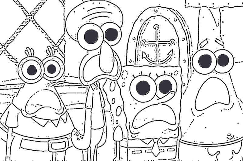Free Coloring Pages Of Gambar Spongebob