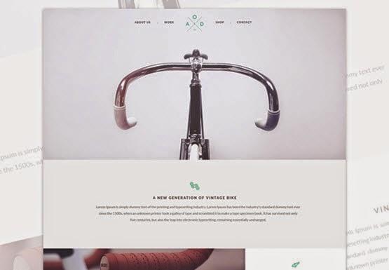 Yebo Bicycle HTML5/CSS3