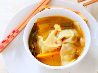 thai spicy chicken wonton soup recipe
