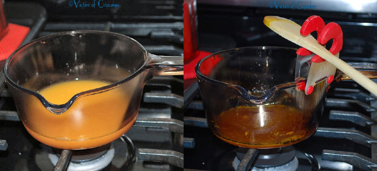 Reduce the orange juice to a syrup - about 1 1/4 Tbls