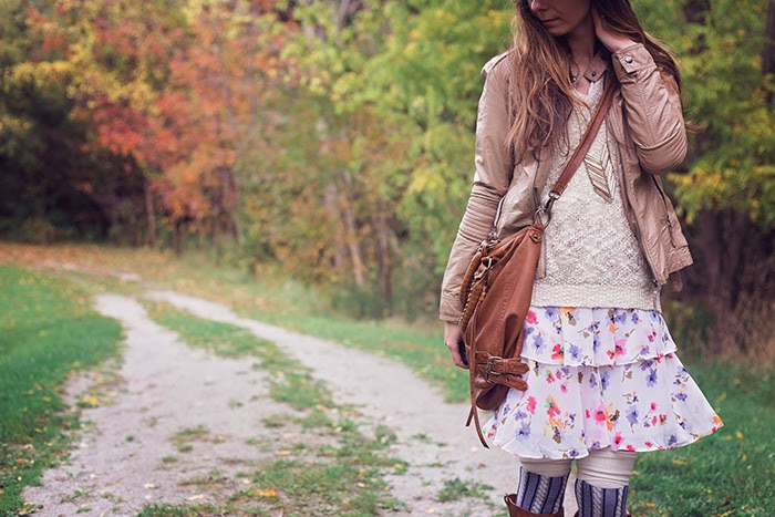 Tiered-Dress-Wool_Fedora-Boho-Chic