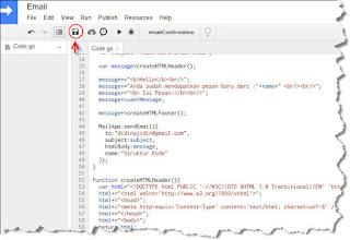 cara mengaktifkan notifikasi email google form format HTML