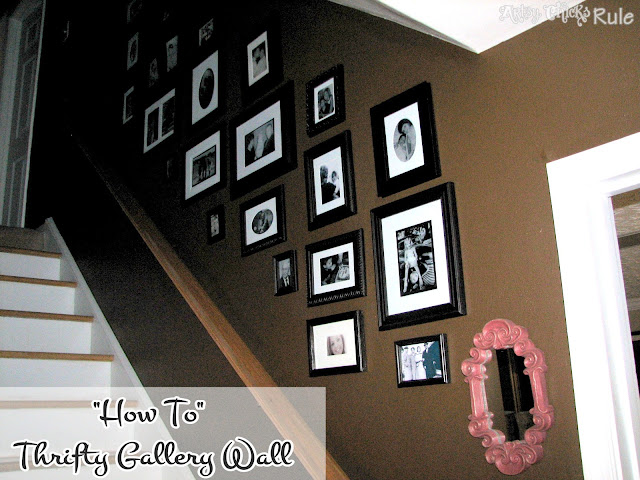 "alt=""""How To"" - Thrifty Gallery Wall"""