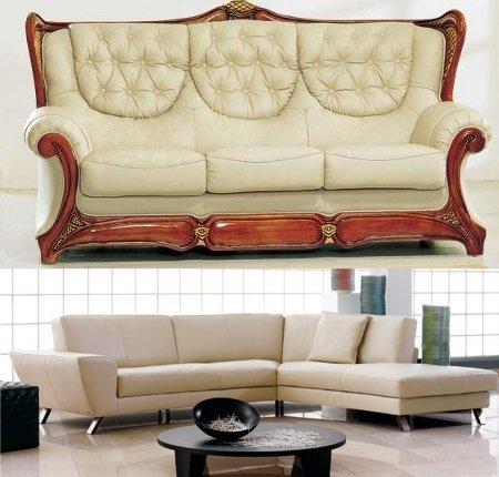 Decoraci n de interiores sala moderna sof s for Sofas y sillones a juego