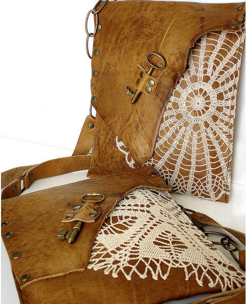 shabby chic leather bags