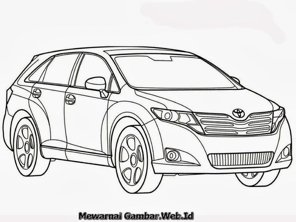 35+ Ide Gambar Sketsa Mobil Toyota Terbaru  Sketsa