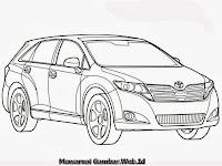 Gambar Mewarnai Mobil Toyota Venza